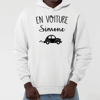 Sweat Capuche Adulte En voiture Simone