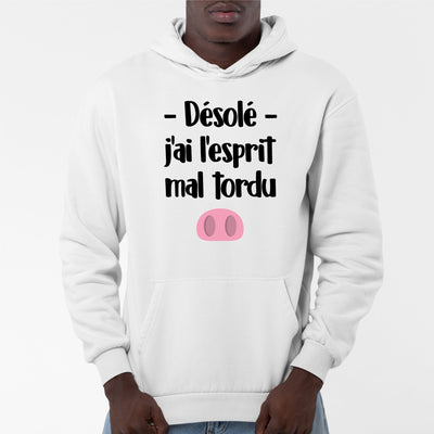 Sweat Capuche Adulte Esprit mal tordu
