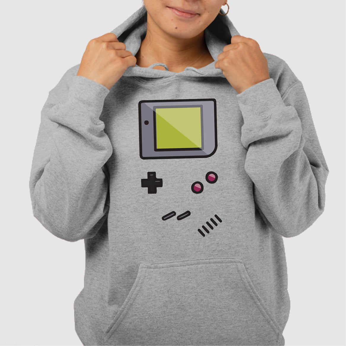Sweat Capuche Adulte Game Boy Gris