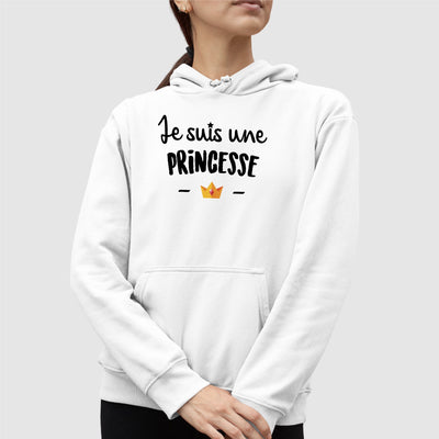 Sweat Capuche Adulte Je suis une princesse