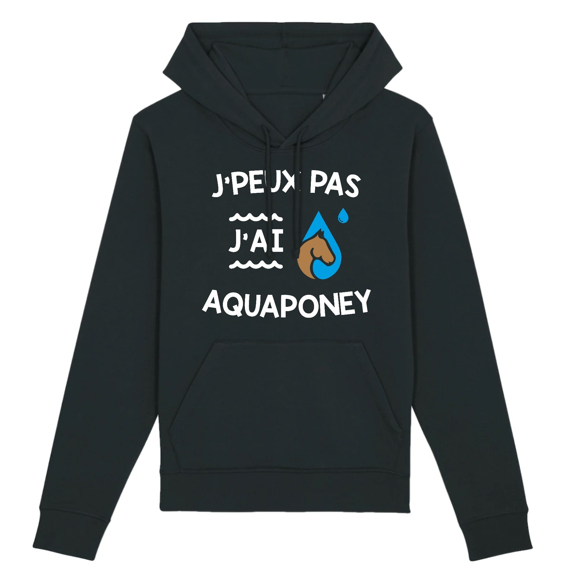 Sweat Capuche Adulte J'peux pas j'ai aquaponey