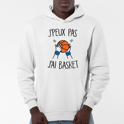 Sweat Capuche Adulte J'peux pas j'ai basket