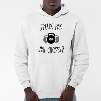 Sweat Capuche Adulte J'peux pas j'ai crossfit