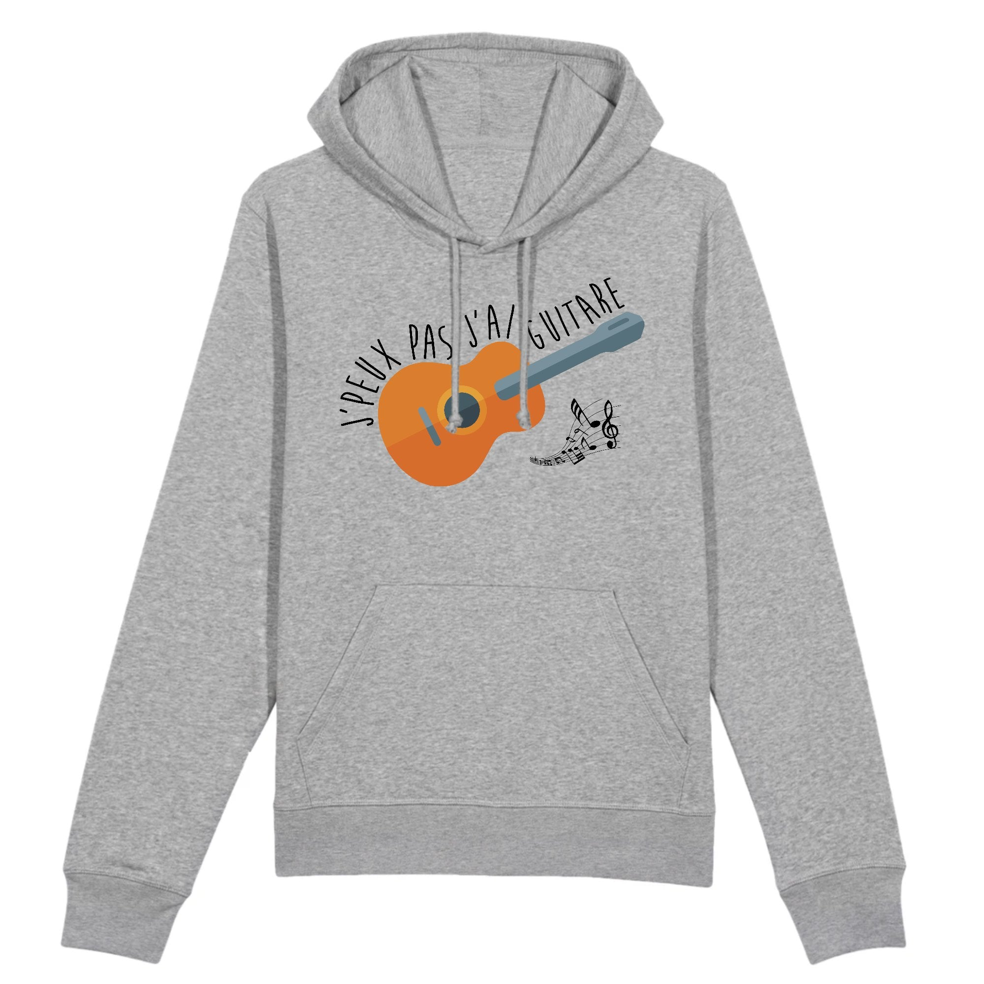 Sweat Capuche Adulte J'peux pas j'ai guitare