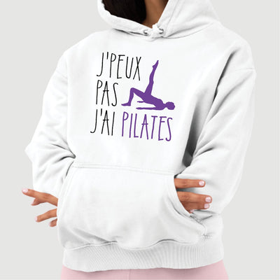 Sweat Capuche Adulte J'peux pas j'ai pilates