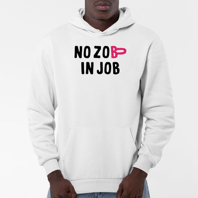 Sweat Capuche Adulte No zob in job Blanc