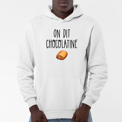 Sweat Capuche Adulte On dit chocolatine