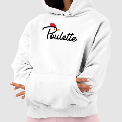 Sweat Capuche Adulte Poulette