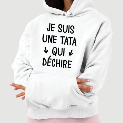Sweat Capuche Adulte Tata qui déchire