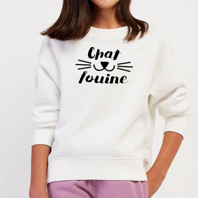 Sweat Enfant Chafouine Blanc