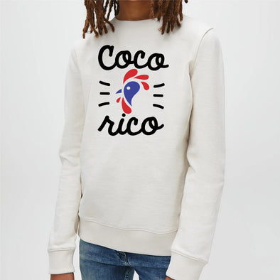 Sweat Enfant Cocorico Blanc