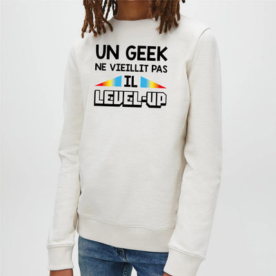 Sweat Enfant Geek level-up