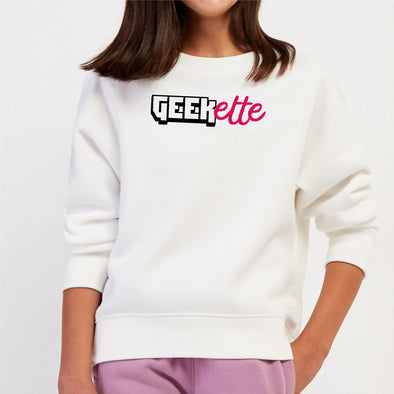 Sweat Enfant Geekette Blanc