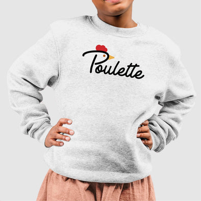 Sweat Enfant Poulette Blanc