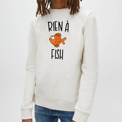 Sweat Enfant Rien à fish Blanc