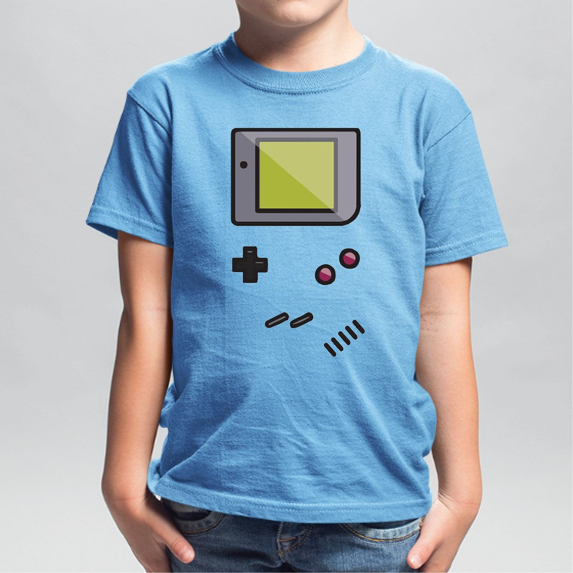 T-Shirt Enfant Game Boy Bleu