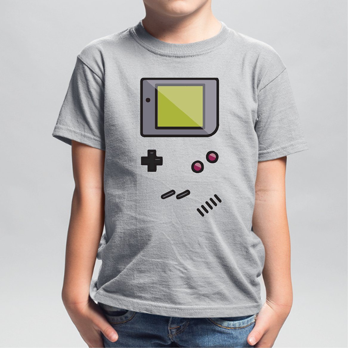 T-Shirt Enfant Game Boy Gris