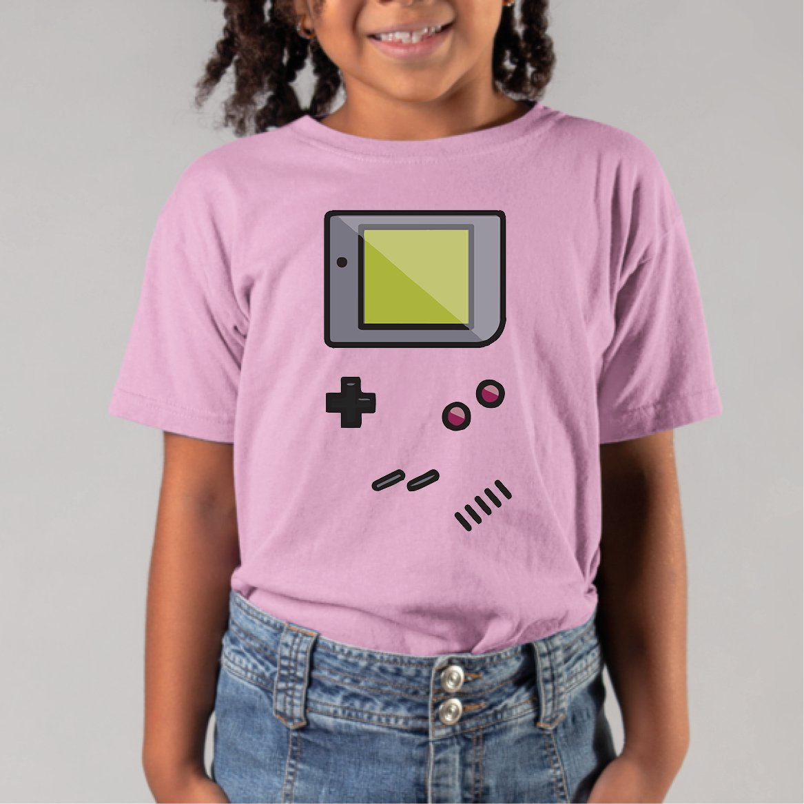 T-Shirt Enfant Game Boy Rose