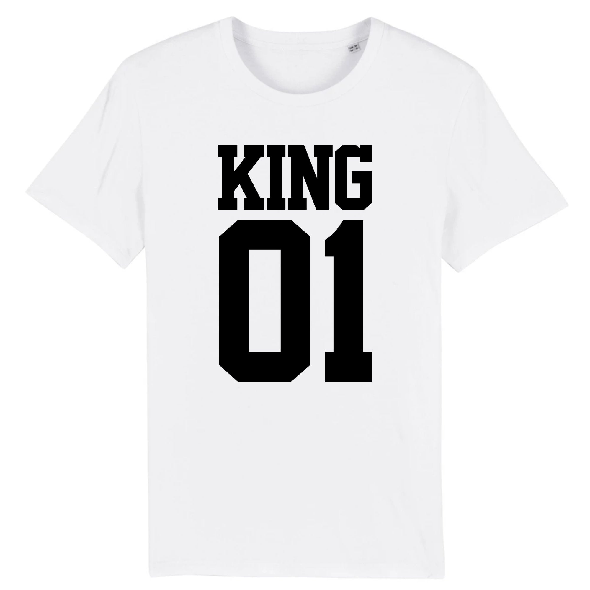 T-Shirt Homme King 01 Blanc