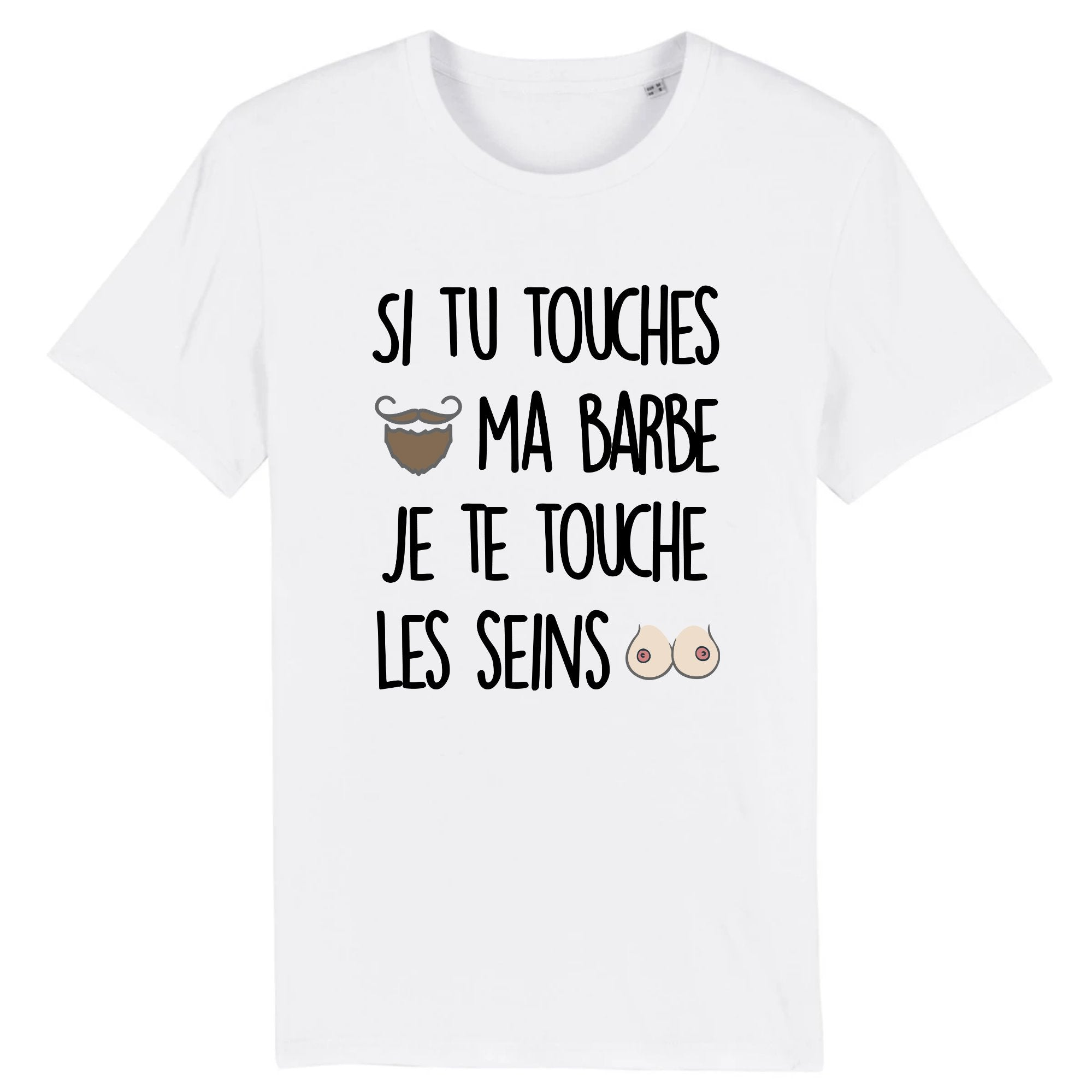 T-Shirt Homme Si tu touches ma barbe