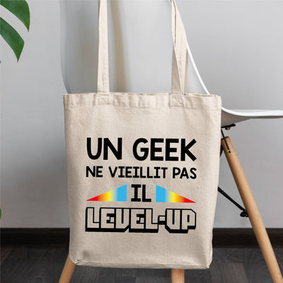 Tote bag Geek level-up