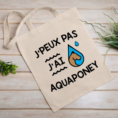 Tote bag J'peux pas j'ai aquaponey