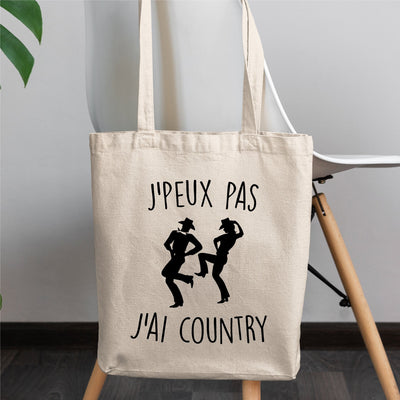 Tote bag J'peux pas j'ai country
