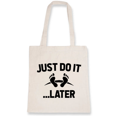 Tote bag Just do it later Blanc