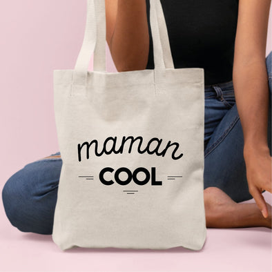 Tote bag Maman cool Blanc