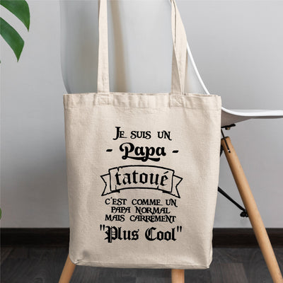 Tote bag Papa tatoué