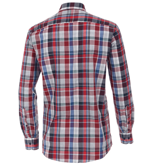 Casa Moda - Long Sleeve Check Shirt Blue/Red - Casual Fit