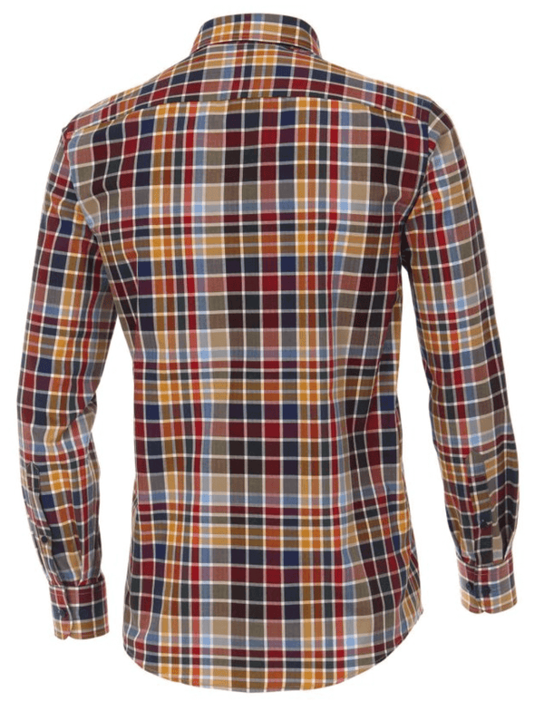 Casa Moda - Long Sleeve Check Shirt Multi - Casual Fit