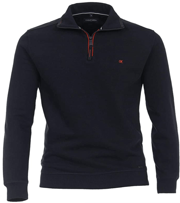 Casa Moda Quarter Zip Sweatshirt - Navy,Blue