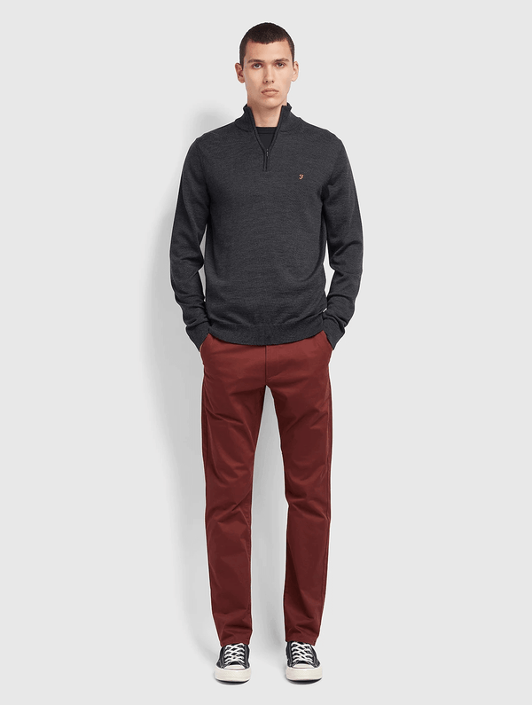 Farah - Beech Chino Trousers Stretch Fit - Bordeaux