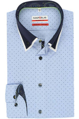Marvelis-Modern Fit Shirt-Non Iron-Blue