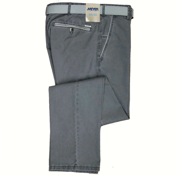 Meyer - Grey Cotton Chinos New York Style