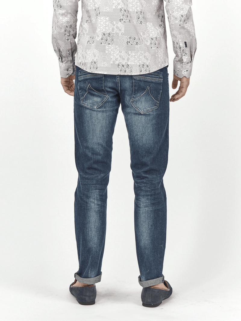 Mish Mash Jeans - 1984 Vasco Mid Wash Blue Tapered Fit