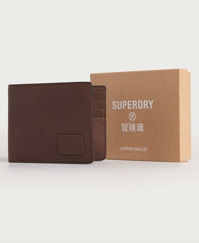 Superdry - NYC - Bifold Leather Wallet - Brown