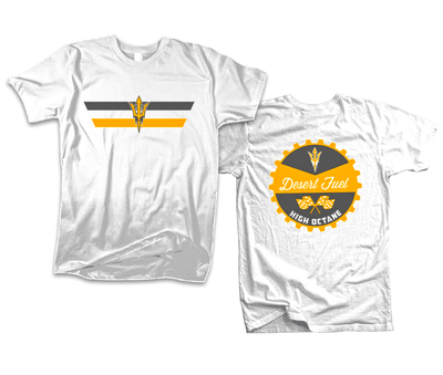Desert Fuel T-Shirt, White - DieHard-Apparel