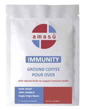 Load image into Gallery viewer, Organic Immunity Ground Coffee (5 single serve pour over)