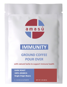Organic Immunity Ground Coffee (5 single serve pour over)