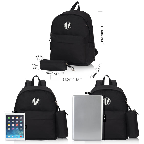 Veegul School Backpack with Pencil Case