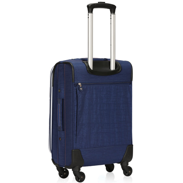 Hynes Eagle 21 inch Softside Carry on Luggage with Spinner Wheels
