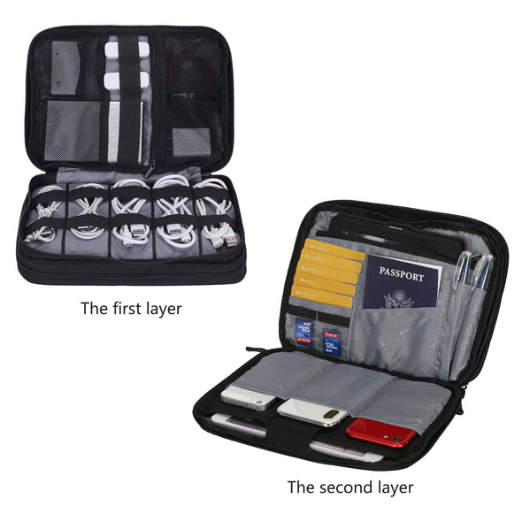 Hynes Eagle Luxor Double Layers Electronics Organizer