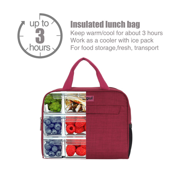 Veegul Insulated Lunch Tote Bag