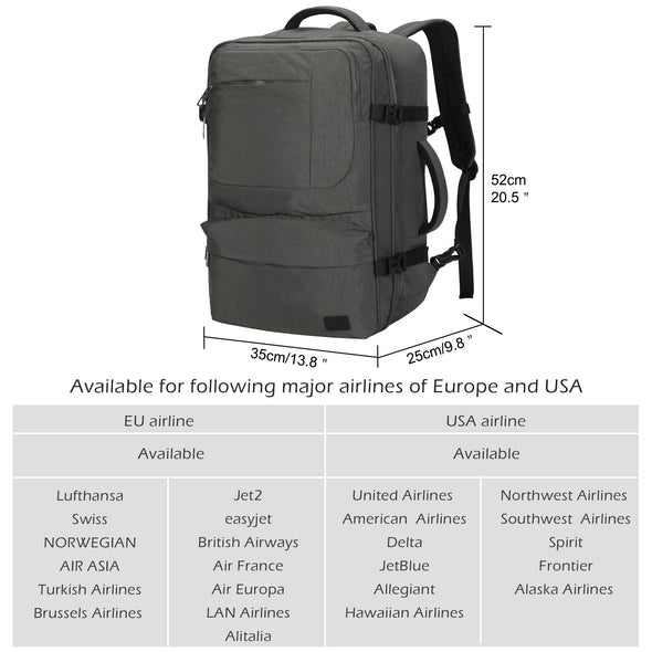 Hynes Eagle Santiago 44L Carry on Backpack Travel Pack