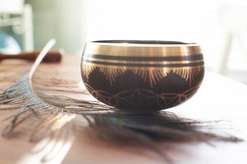 Flower of Life Metal Singing Bowl