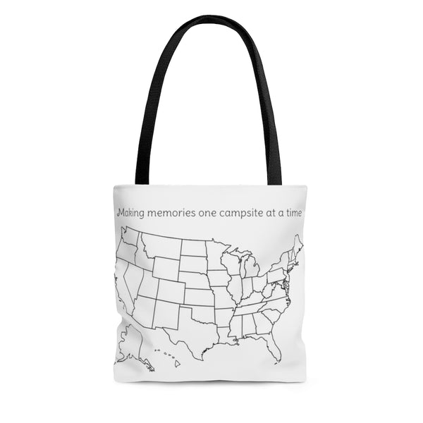 Making memories one campsite at a time colorable Tote Bag