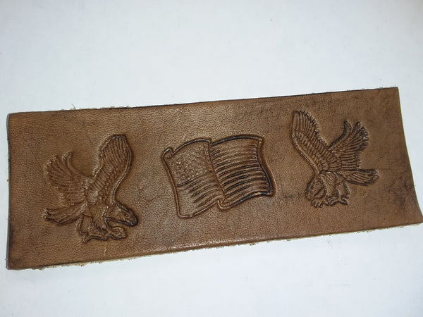 American flag and eagle bookmark