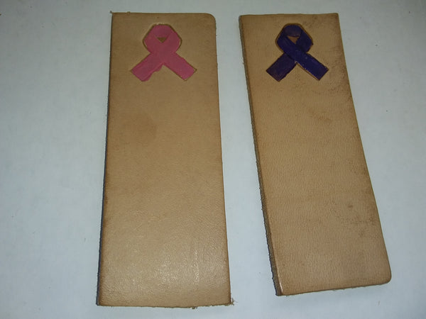 set of 2 pink and purple ribbon bookmark